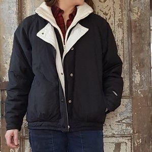 Vintage Roffe ski jacket black cream down jacket